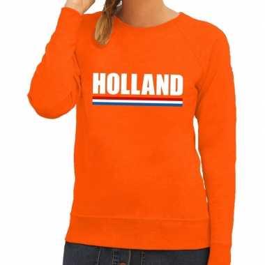 Goedkope oranje holland supporter trui dames