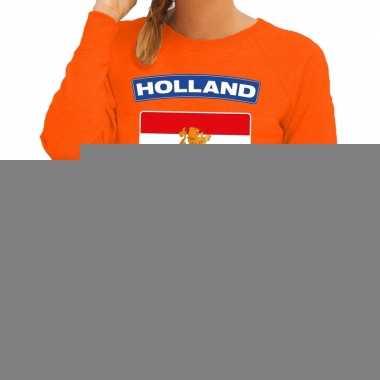 Goedkope oranje holland vlag trui dames