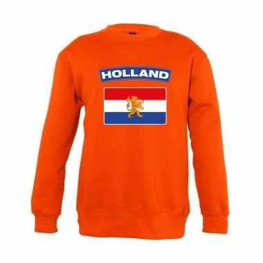 Goedkope oranje holland vlag trui jongens en meisjes