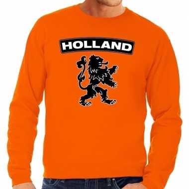 Goedkope oranje holland zwarte leeuw trui heren en dames