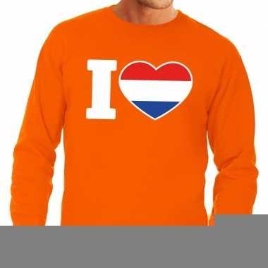 Goedkope oranje i love holland trui heren en dames