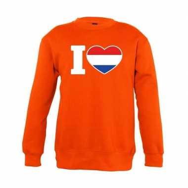 Goedkope oranje i love holland trui jongens en meisjes