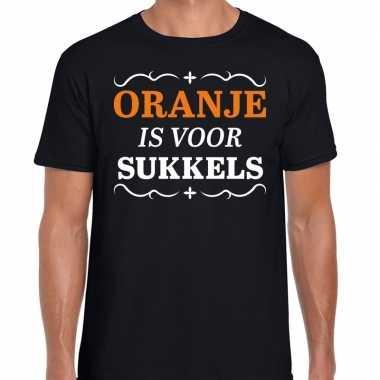 Goedkope oranje is voor sukkels shirt zwart heren