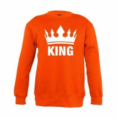 Goedkope oranje koningsdag king trui jongens en meisjes