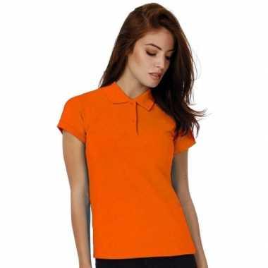 Goedkope oranje poloshirt voor dames