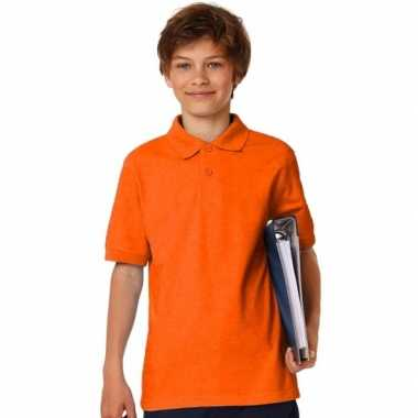 Goedkope oranje poloshirt voor jongens