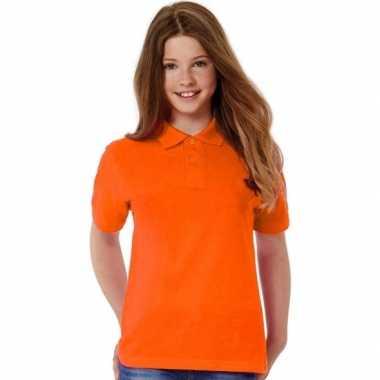 Goedkope oranje poloshirt voor meisjes