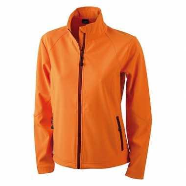 Goedkope oranje polyester dames wind jasje