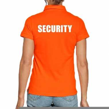 Goedkope oranje security polo t shirt voor dames