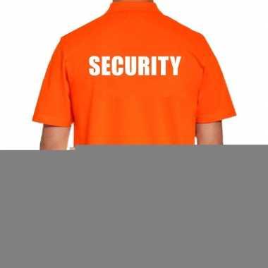 Goedkope oranje security polo t shirt voor heren