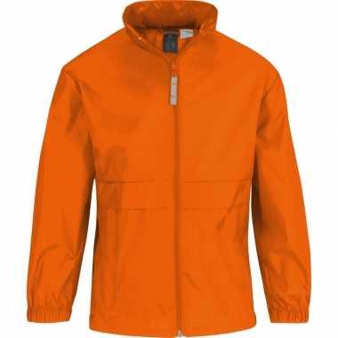 Goedkope oranje supporters jas voor meisjes