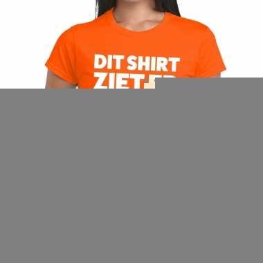 Goedkope oranje t shirt dames met tekst dit shirt ziet er echt goed u