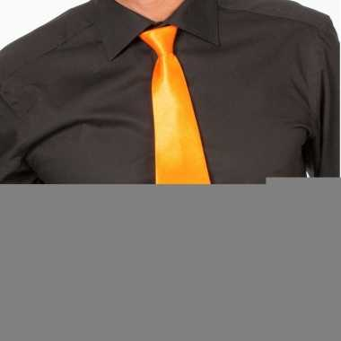 Goedkope oranje verkleed stropdassen 41 cm voor dames/heren