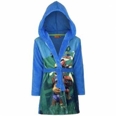 Goedkope paw patrol badjas blauw voor jongens