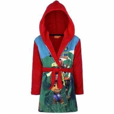 Goedkope paw patrol badjas rood voor jongens