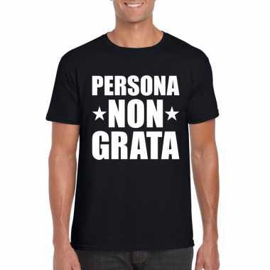 Goedkope persona non grata shirt zwart voor heren