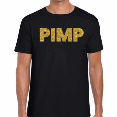 Goedkope pimp fun t shirt zwart voor heren