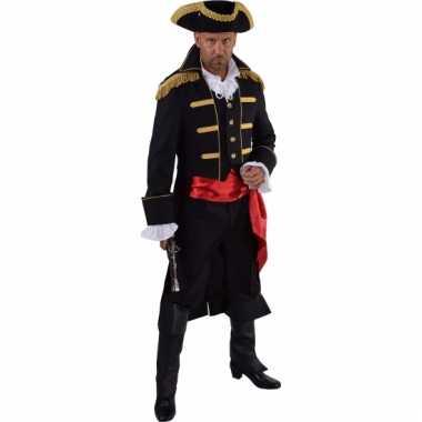 Goedkope piraat verkleed jas zwart voor heren