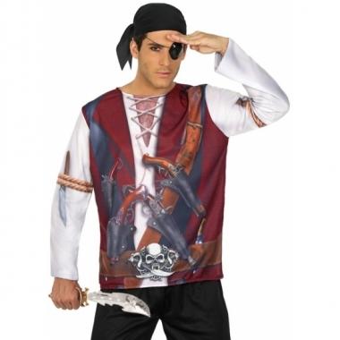 Goedkope piraten shirt verkleedoutfit