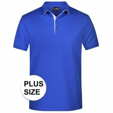 Goedkope plus size blauwe premium poloshirt golf pro voor heren
