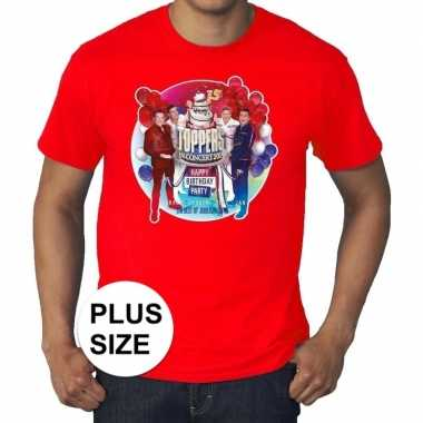 Goedkope plus size officieel toppers in concert 2019 t shirt rood ere