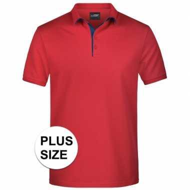 Goedkope plus size rode premium poloshirt golf pro voor heren