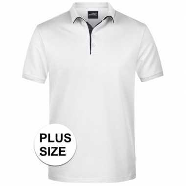 Goedkope plus size witte premium poloshirt golf pro voor heren