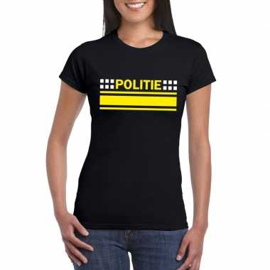 Goedkope politie agenten shirt zwart voor dames