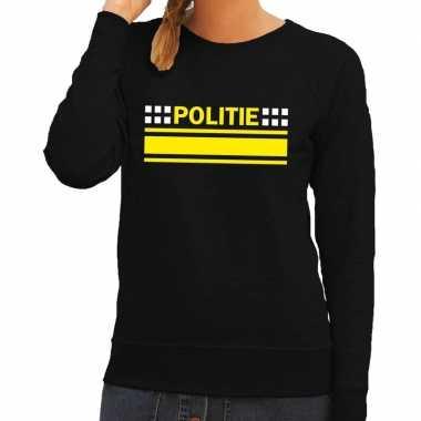 Goedkope politie agenten sweater / trui zwart voor dames