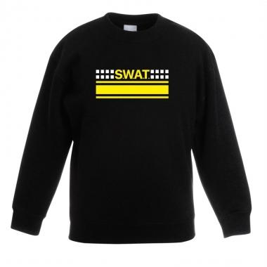 Goedkope politie swat arrestatieteam sweater / trui zwart voor kinder