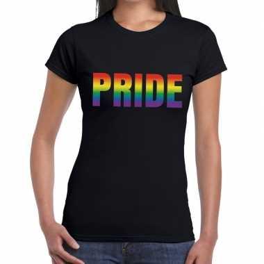 Goedkope pride shirt gaypride zwart dames