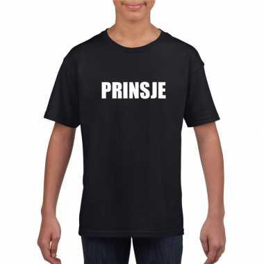 Goedkope prinsje fun t shirt zwart voor jongens