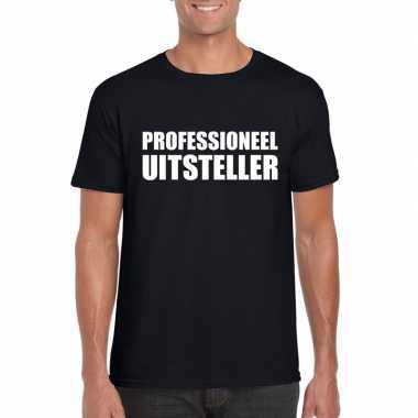 Goedkope professioneel uitsteller shirt zwart voor heren
