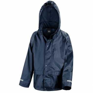 Goedkope regenjassen navy blauw voor jongens