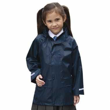 Goedkope regenjassen navy blauw voor meisjes