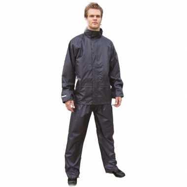 Goedkope regenkleren plus size zwarte regenbroek en regenjas voor vol