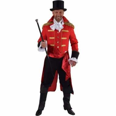 Goedkope rode baron verkleed jas voor heren