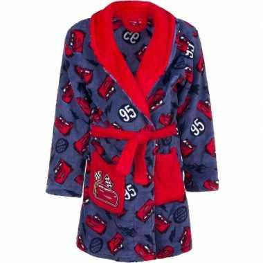 Goedkope rode/blauw cars badjas voor jongens