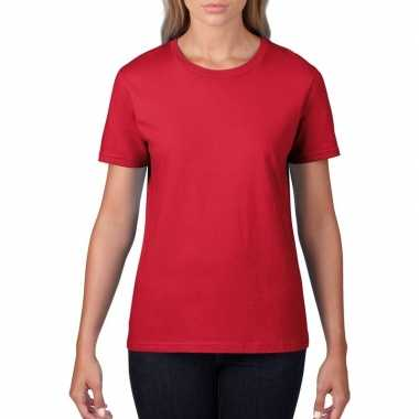 Goedkope rode dames casual t shirts met ronde hals