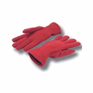 Goedkope rode handschoenen fleece voor dames/heren