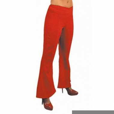 Goedkope rode hippie dames broek