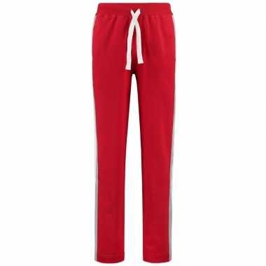 Goedkope rode joggingbroek/huisbroek met streep voor dames