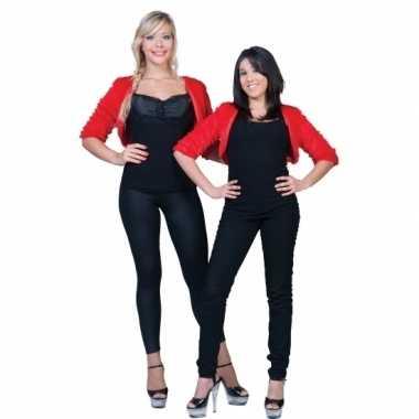 Goedkope rode nepbonten jasje voor dames