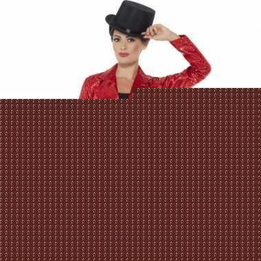 Goedkope rode pailletten circus jas voor dames