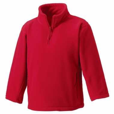 Goedkope rode polyester fleece trui voor jongens