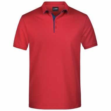Goedkope rode premium poloshirt golf pro voor heren
