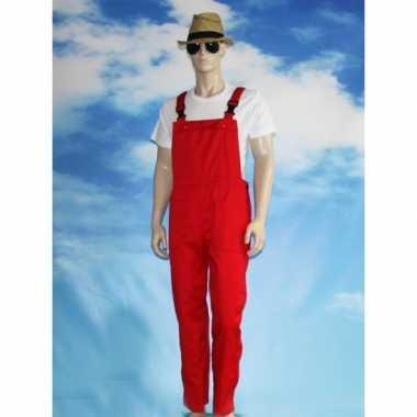 Goedkope rode tuinbroek voor dames en heren