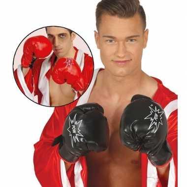 Goedkope rode verkleed bokser handschoenen voor volwassnen