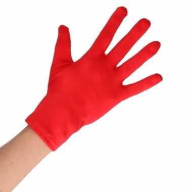 Goedkope rode verkleed handschoenen kort voor volwassenen