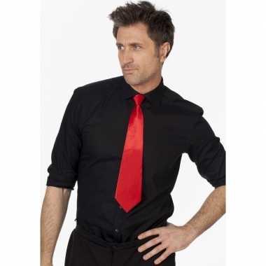 Goedkope rode verkleed stropdassen 41 cm voor dames/heren